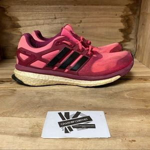 Adidas energy boost 2 pink black sneakers shoes